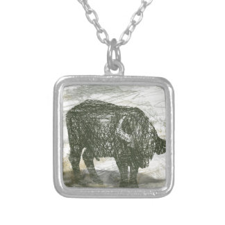 Buffalo Bull Silver Plated Necklace
