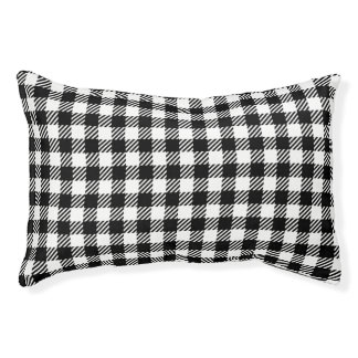 Buffalo Check Black Plaid Dog Bed