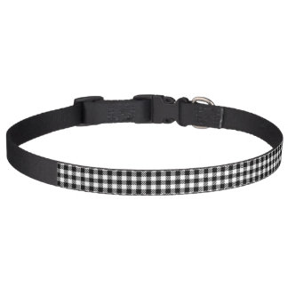 Buffalo Check Black Plaid Dog Collar