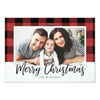 Buffalo Check Christmas Photo Card