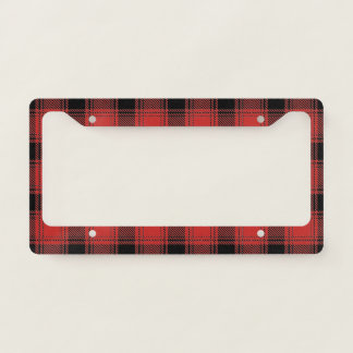 Buffalo Checks Plaid License Plate Frame