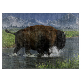 Buffalo Crossing a River Cutting Boards