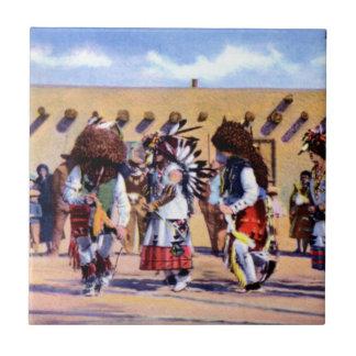 Buffalo Dance of the Pueblo Indians Ceramic Tiles