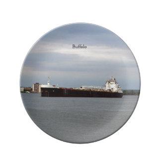 Buffalo decorative plate