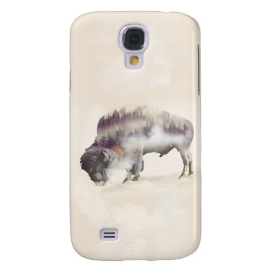 Buffalo-double exposure-american buffalo-landscape