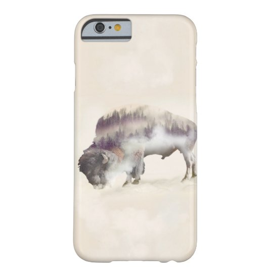 Buffalo-double exposure-american buffalo-landscape barely there iPhone 6 case