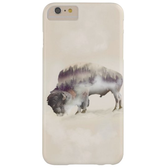 Buffalo-double exposure-american buffalo-landscape barely there iPhone 6 plus case