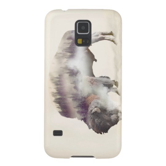 Buffalo-double exposure-american buffalo-landscape case for galaxy s5