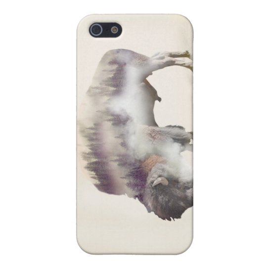 Buffalo-double exposure-american buffalo-landscape case for the iPhone 5