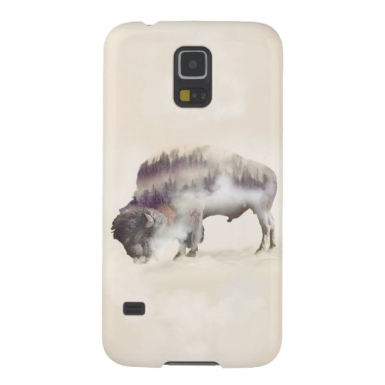 Buffalo-double exposure-american buffalo-landscape cases for galaxy s5