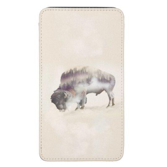 Buffalo-double exposure-american buffalo-landscape galaxy s5 pouch