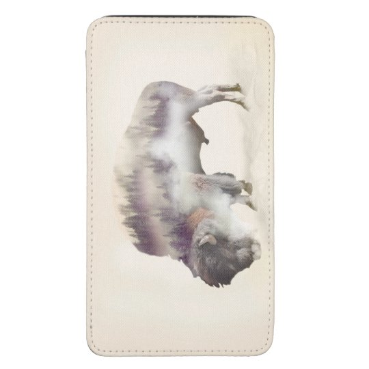 Buffalo-double exposure-american buffalo-landscape galaxy s5 pouch
