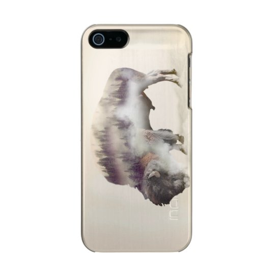 Buffalo-double exposure-american buffalo-landscape incipio feather® shine iPhone 5 case