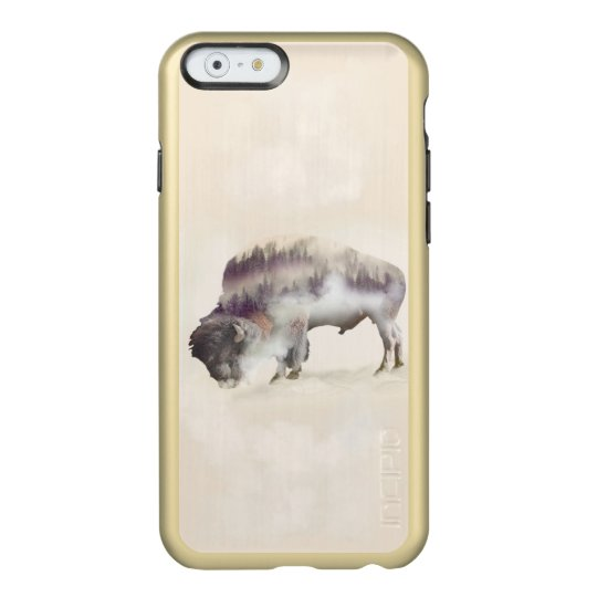 Buffalo-double exposure-american buffalo-landscape incipio feather® shine iPhone 6 case