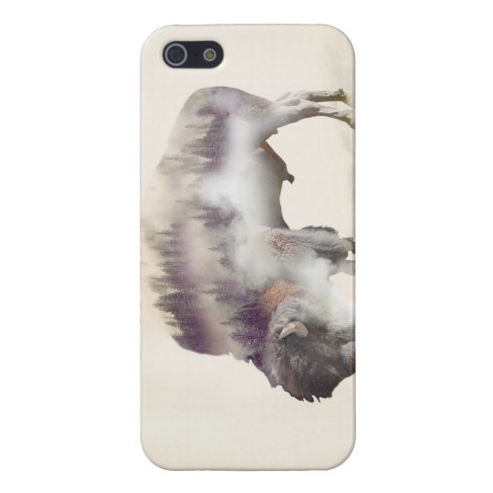 Buffalo-double exposure-american buffalo-landscape iPhone 5 case