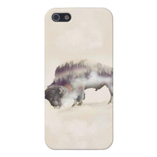 Buffalo-double exposure-american buffalo-landscape iPhone 5 cover