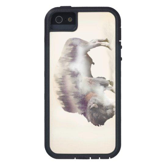 Buffalo-double exposure-american buffalo-landscape iPhone 5 covers