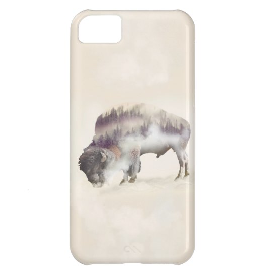 Buffalo-double exposure-american buffalo-landscape iPhone 5C cases