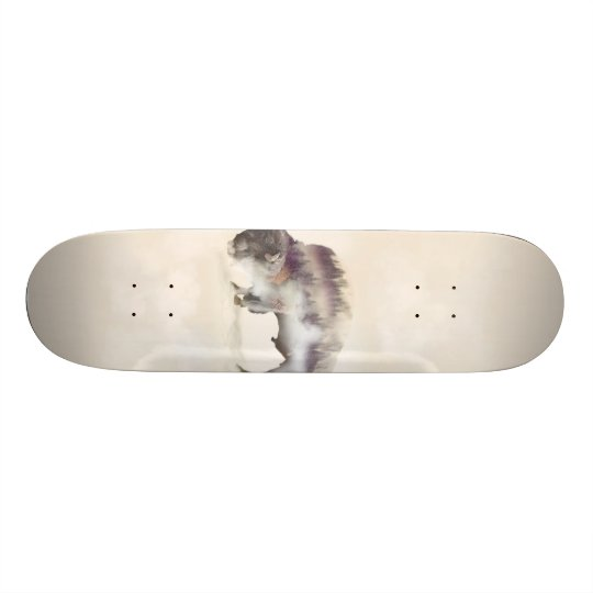 Buffalo-double exposure-american buffalo-landscape skateboard