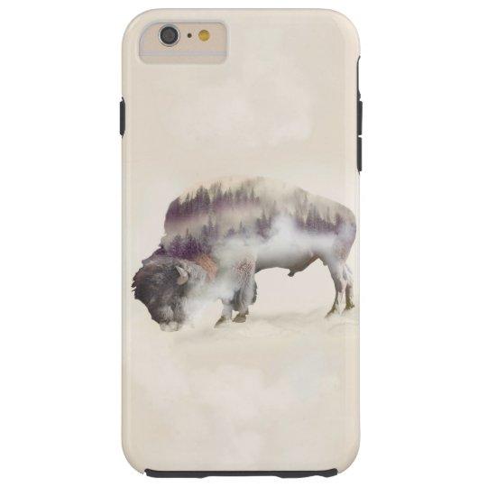 Buffalo-double exposure-american buffalo-landscape tough iPhone 6 plus case