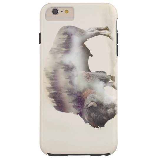 Buffalo-double exposure-american buffalo-landscape tough iPhone 6 plus case