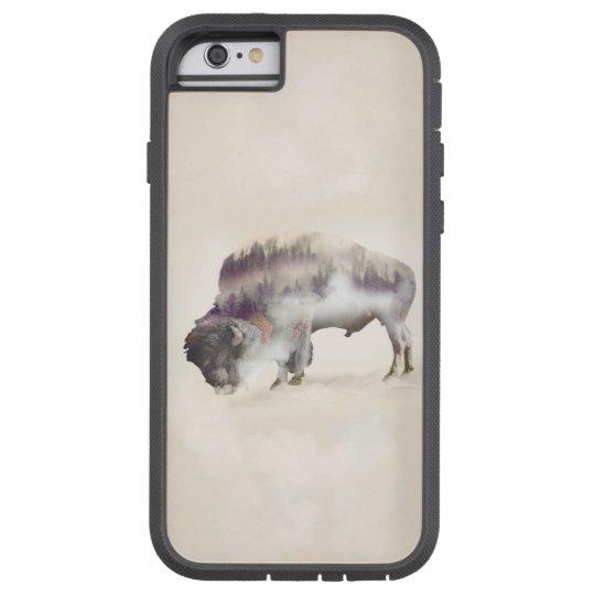 Buffalo-double exposure-american buffalo-landscape tough xtreme iPhone 6 case