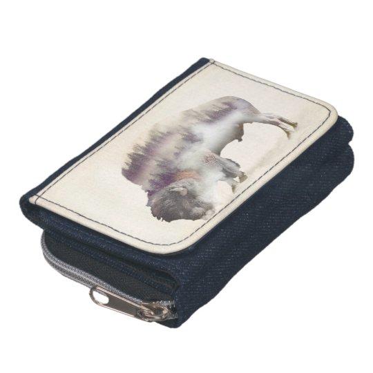 Buffalo-double exposure-american buffalo-landscape wallets