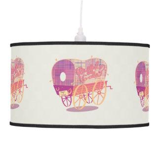 Buffalo Gals Wagon pendant lamp