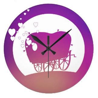 Buffalo Gals Wagon (silhouetted) clock