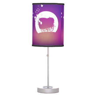 Buffalo Gals Wagon (silhouetted) lamp