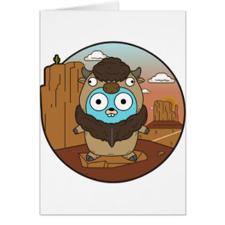 Buffalo Gopher in Desert Card