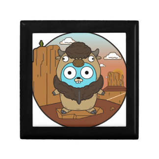 Buffalo Gopher in Desert Gift Box