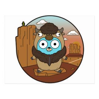 Buffalo Gopher in Desert Postcard