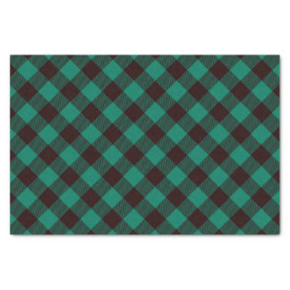 Buffalo Green and Black Plaid Pattern Christmas Tissue Paper