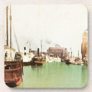 Buffalo Harbor Vintage Coaster
