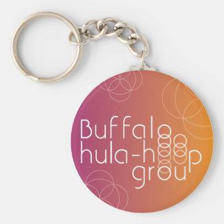 Buffalo Hula Hoop Group Keychain