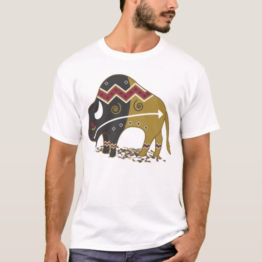 Buffalo Native American T Shirt