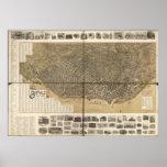 Buffalo New York 1902 Antique Panoramic Map Poster