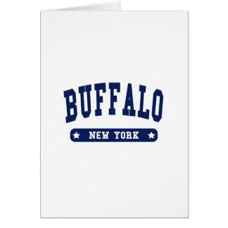 Buffalo New York College Style t shirts Card