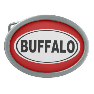 Buffalo New York Oval Belt Buckle