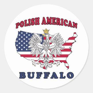Buffalo New York Polish Classic Round Sticker