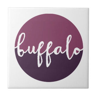 Buffalo, New York | Purple Ombre Circle Tile
