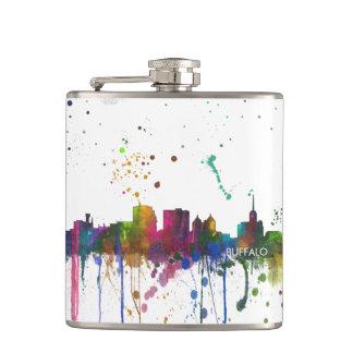 BUFFALO NEW YORK SKYLINE - Drinks flask