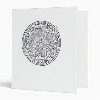 Buffalo Nickel Maze Binder