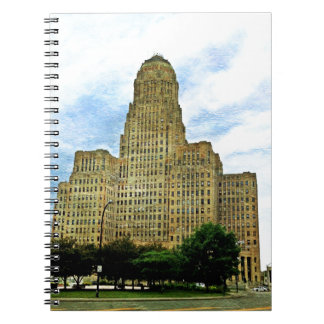 Buffalo NY city Hall Spiral Notebook