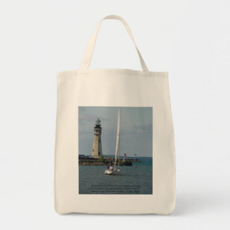 Buffalo NY Lighthouse & Inspirational Saying Tote Bag