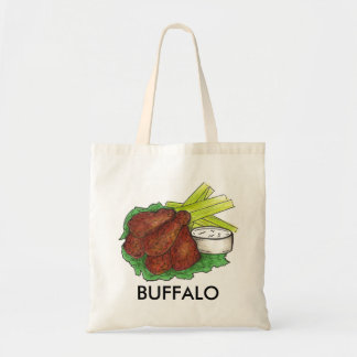 Buffalo NY New York BBQ Chicken Wings Foodie Tote Bag
