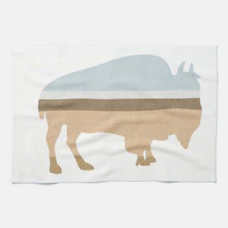 Buffalo on a Plain Kitchen Towel