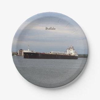 Buffalo paper plate