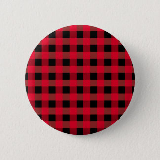 Buffalo plaid 2 inch round button